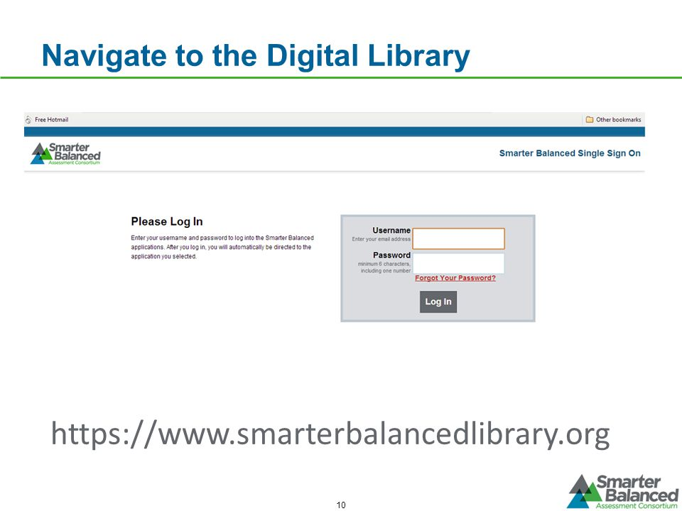 Navigate to the Digital Library