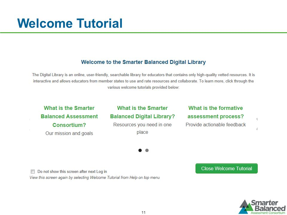 Welcome Tutorial