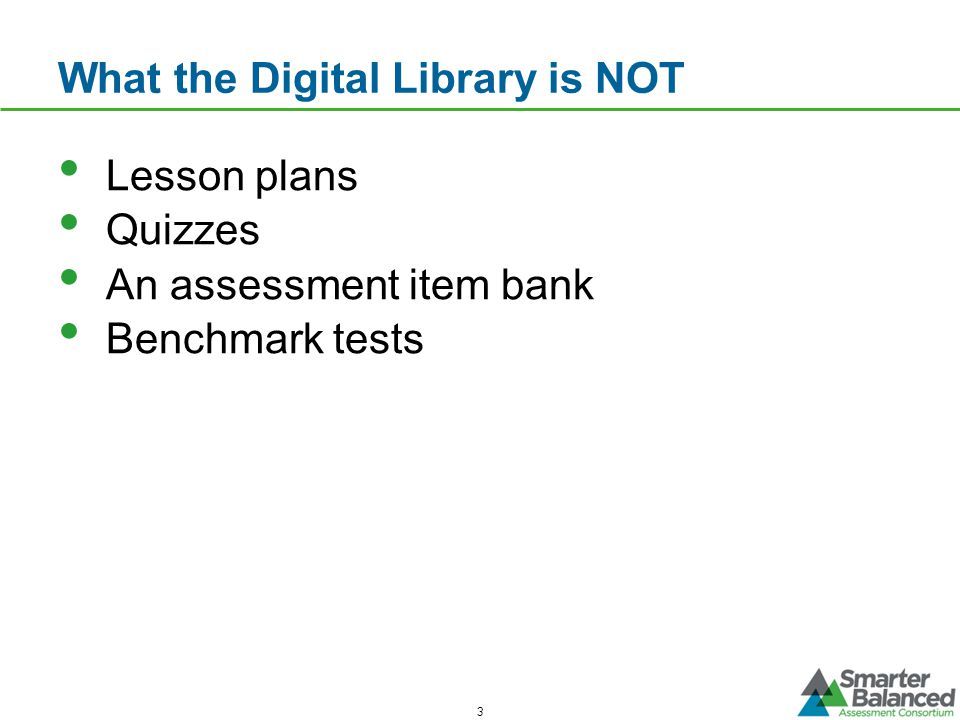 What the Digital Library is NOT