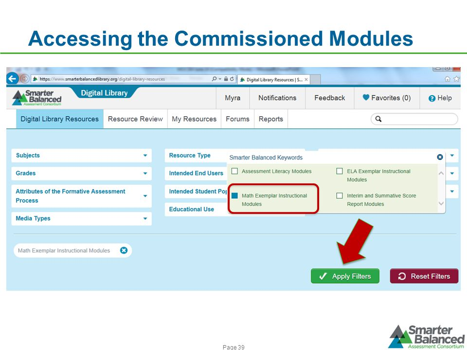 Accessing the Commissioned Modules