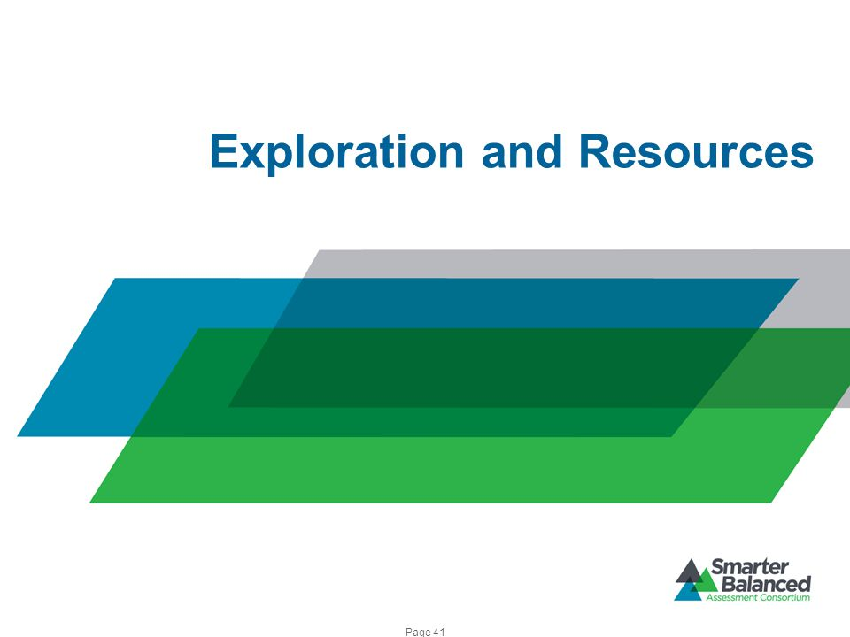Exploration and Resources