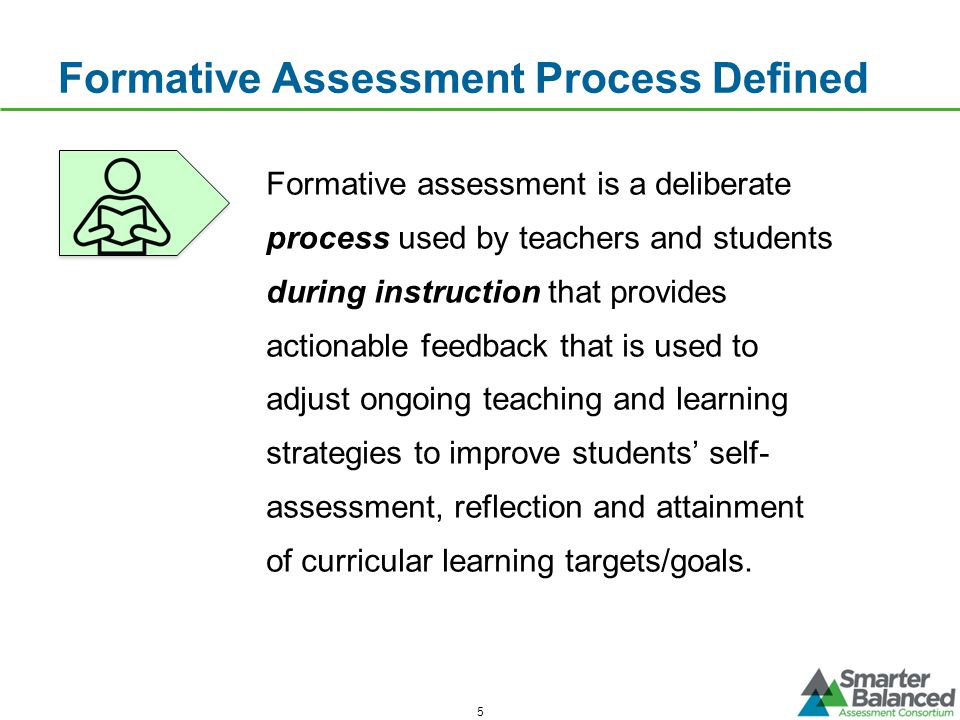 Formative Assessment Process Defined