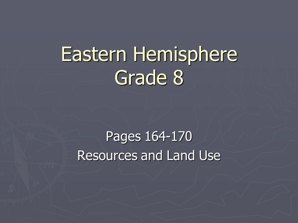Eastern Hemisphere Grade 8