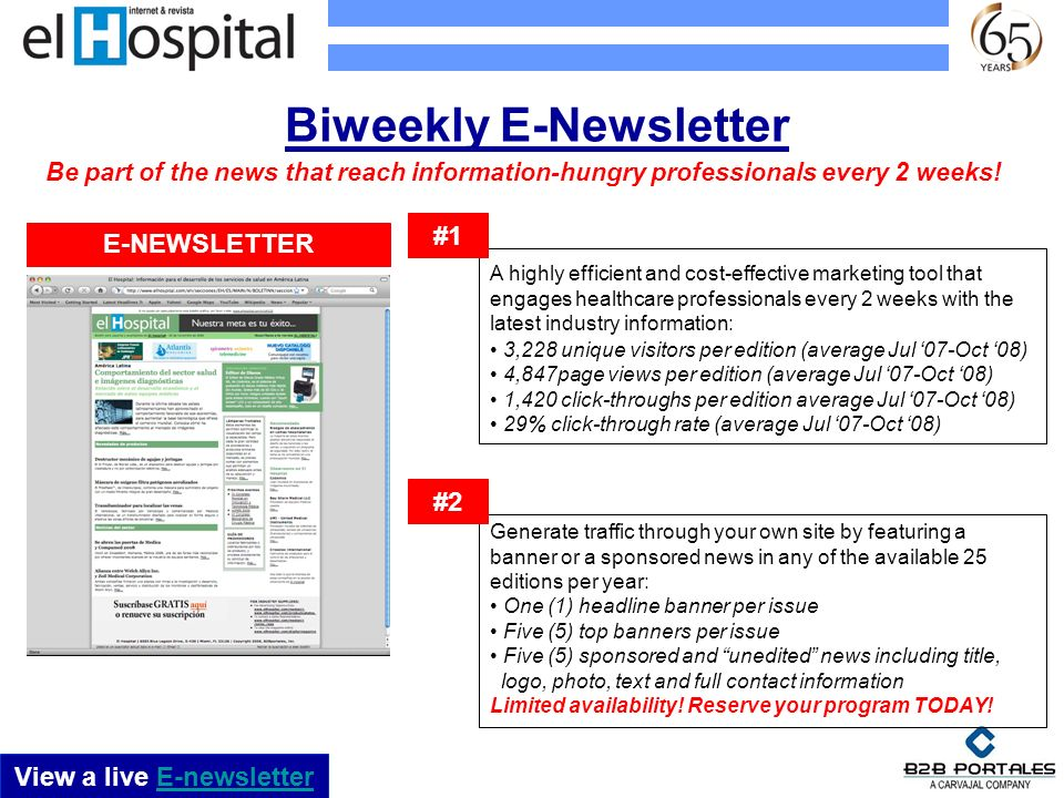 Biweekly E-Newsletter