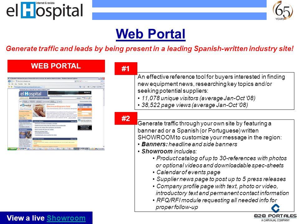 Web Portal WEB PORTAL #1 #2 View a live Showroom