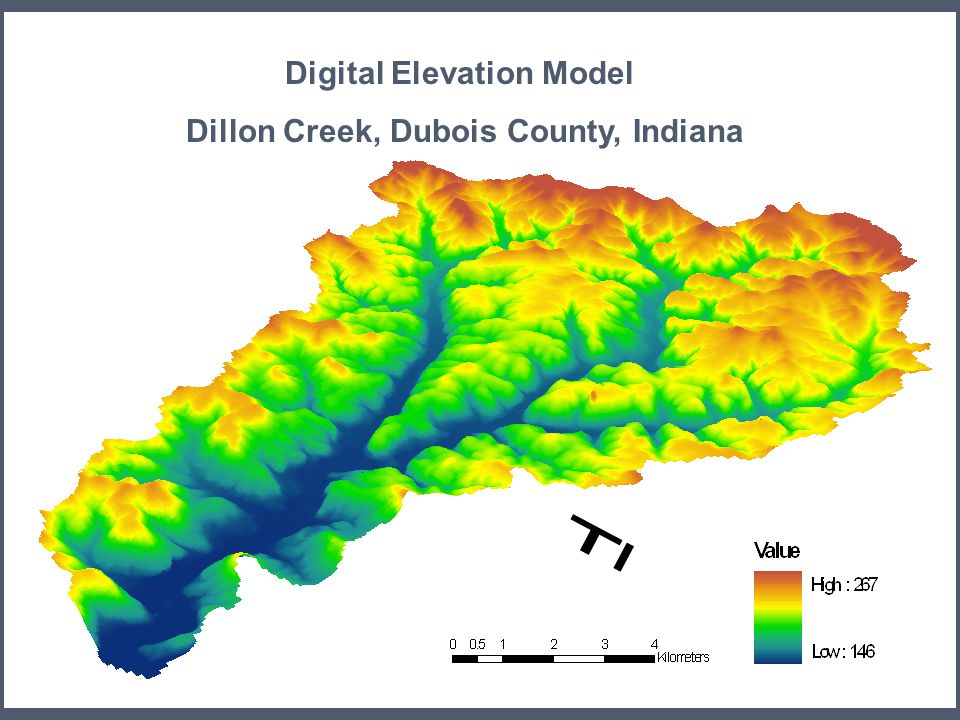 Digital Elevation Model Dillon Creek, Dubois County, Indiana