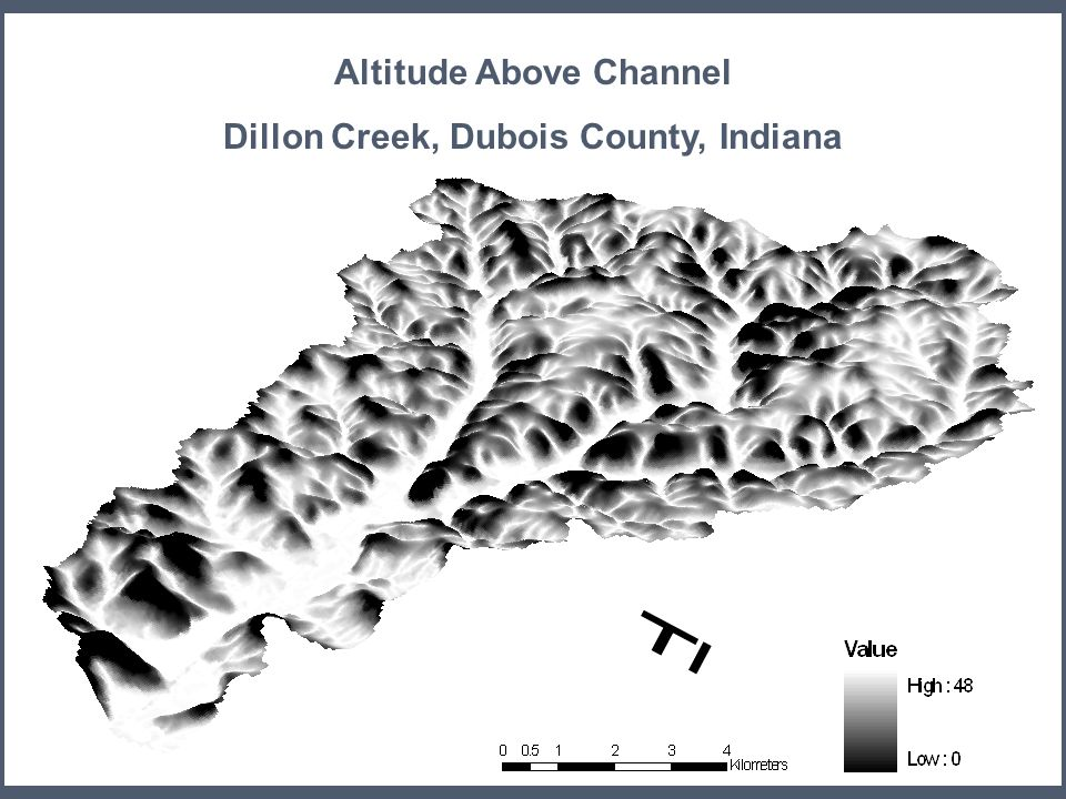 Altitude Above Channel Dillon Creek, Dubois County, Indiana