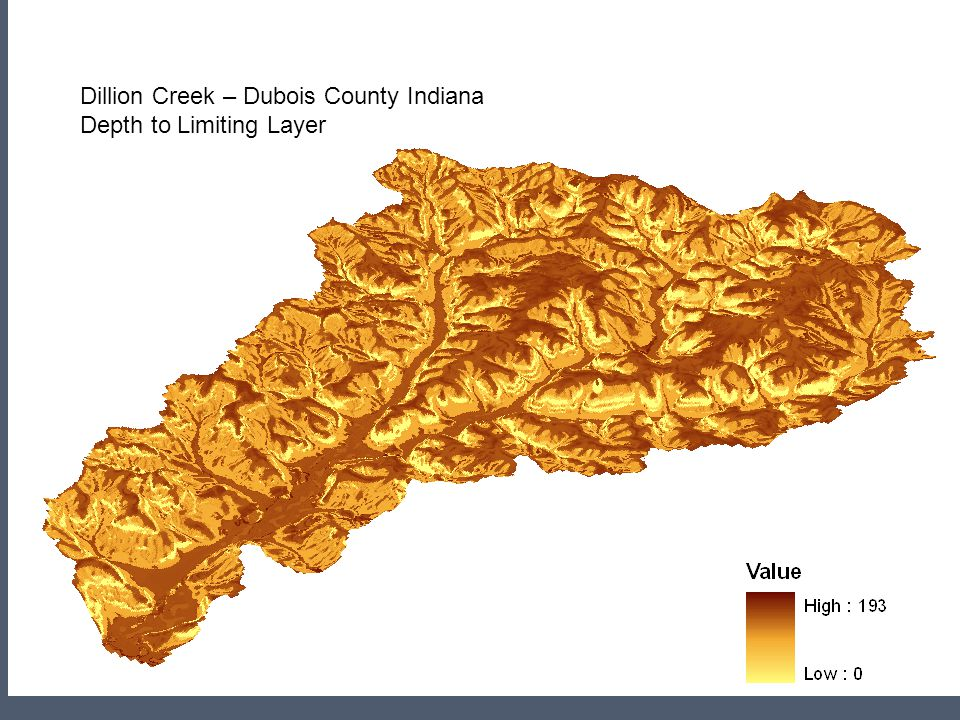 Dillion Creek – Dubois County Indiana Depth to Limiting Layer