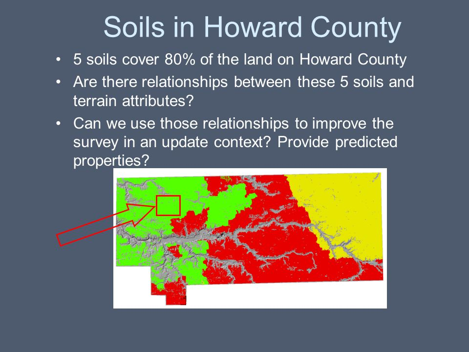 Soils in Howard County 5 soils cover 80% of the land on Howard County