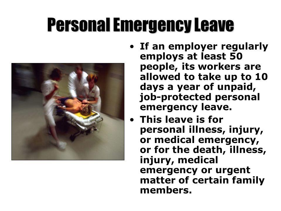 Personal Emergency Leave
