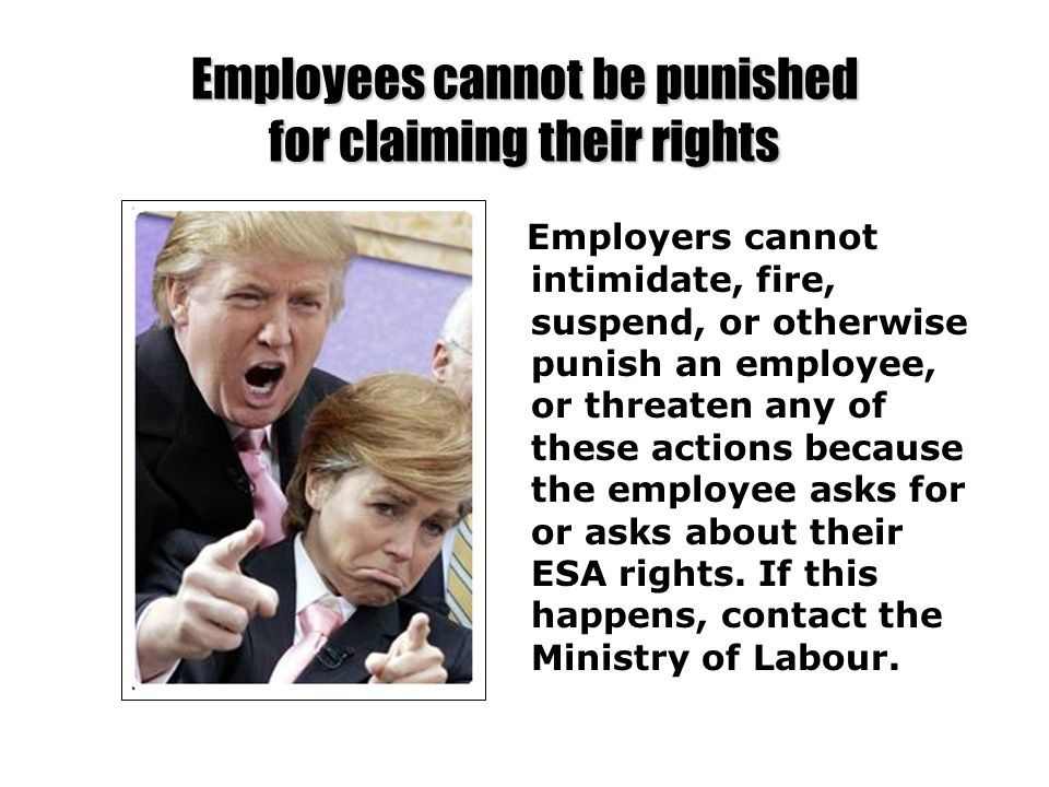 Employees cannot be punished for claiming their rights