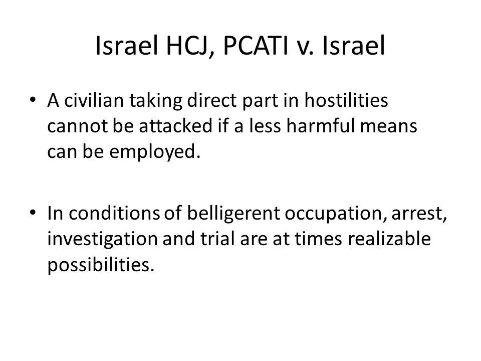 Israel HCJ, PCATI v. Israel