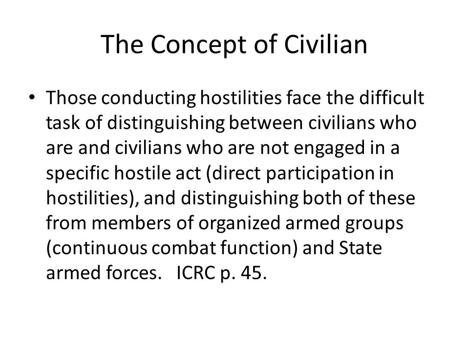 The Concept of Civilian