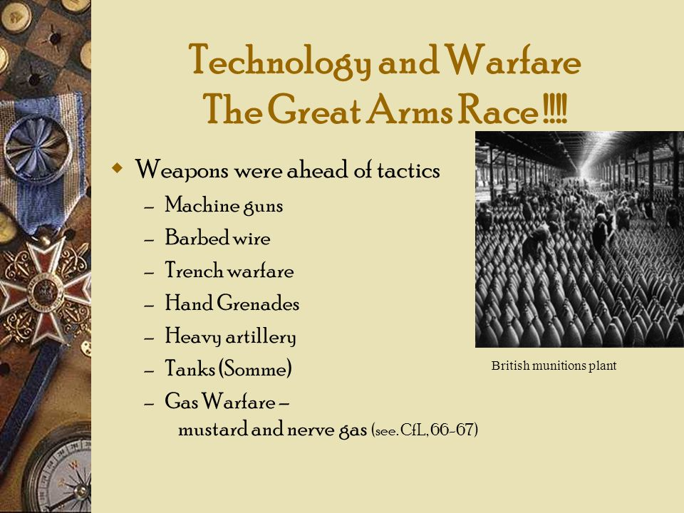 Technology and Warfare The Great Arms Race !!!!