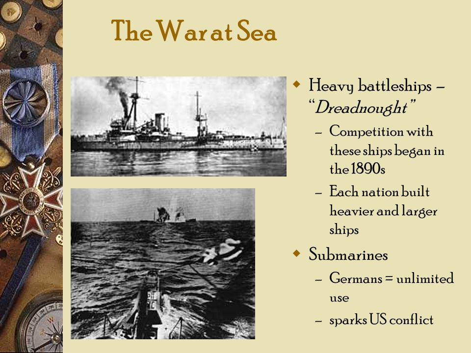 The War at Sea Heavy battleships – Dreadnought Submarines