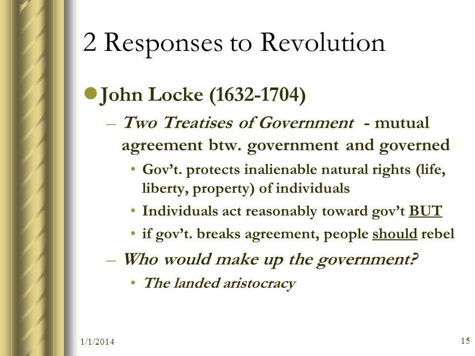 2 Responses to Revolution