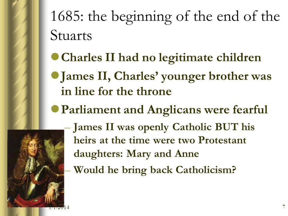 1685: the beginning of the end of the Stuarts