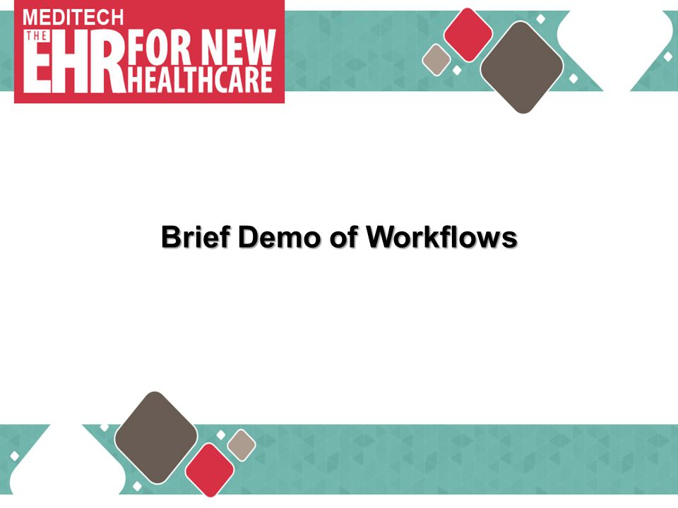 Brief Demo of Workflows