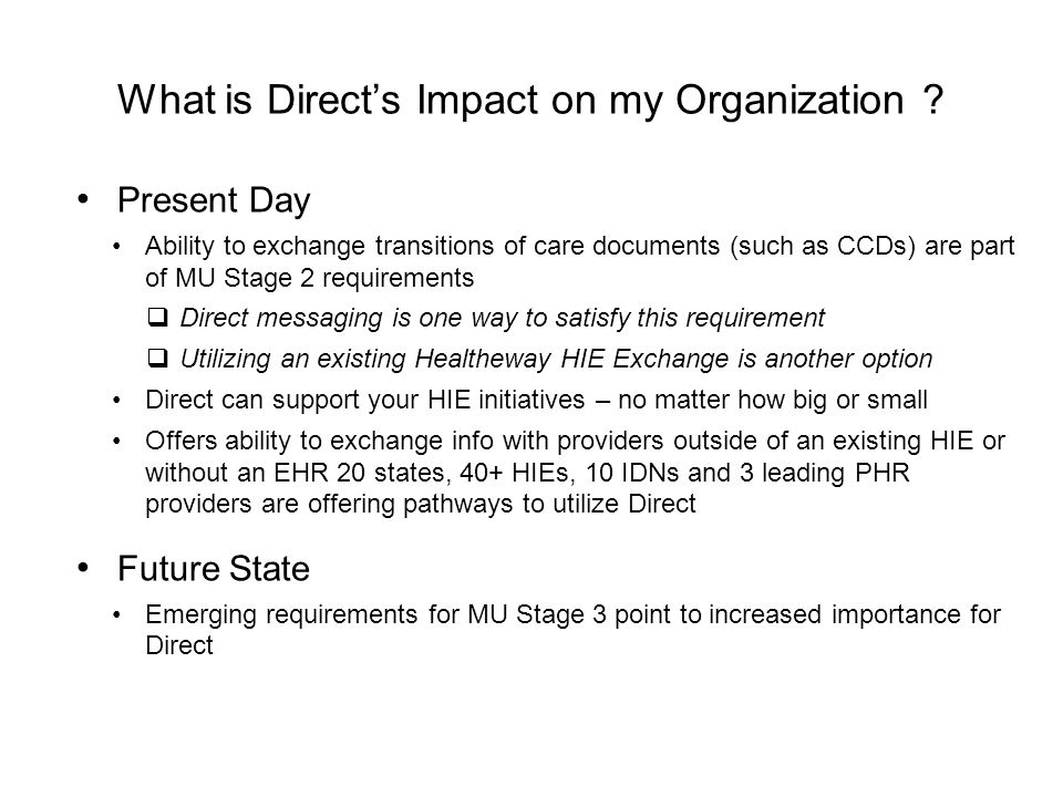 What is Direct's Impact on my Organization