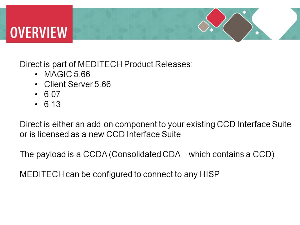 MEDITECH Direct is part of MEDITECH Product Releases: MAGIC 5.66