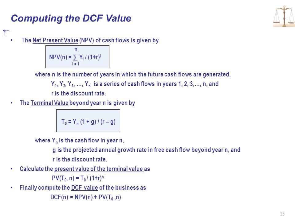 Computing the DCF Value