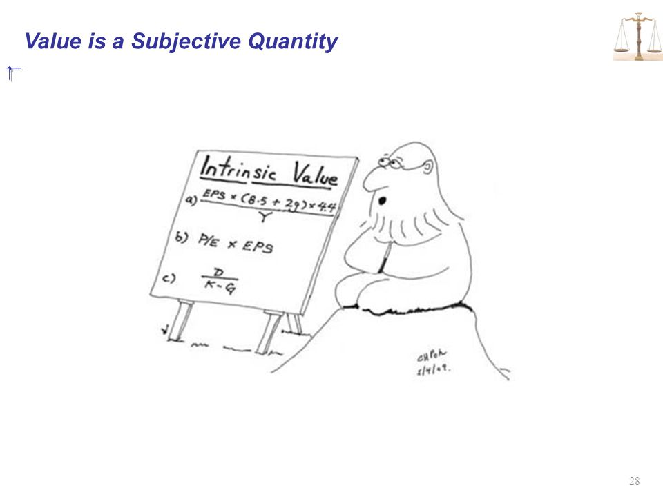 Value is a Subjective Quantity