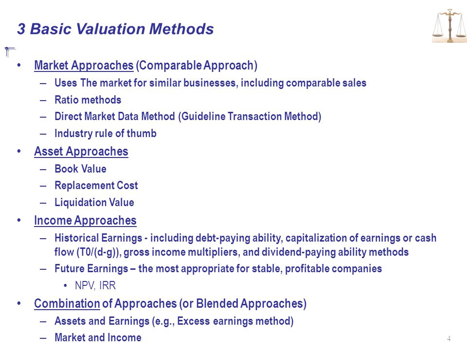 3 Basic Valuation Methods