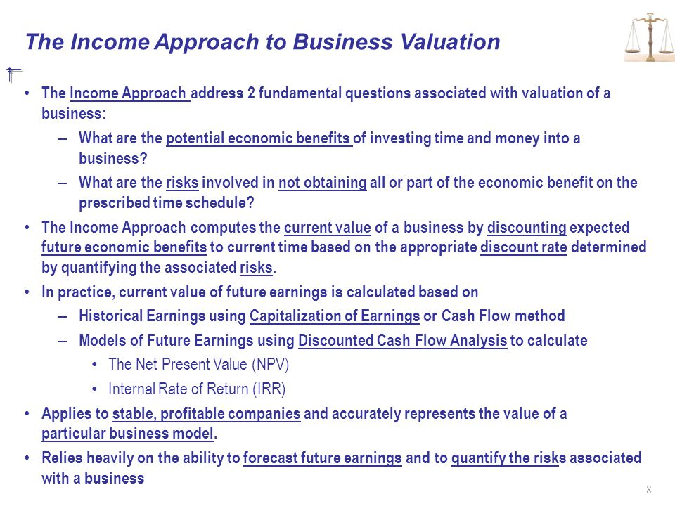 The Income Approach to Business Valuation