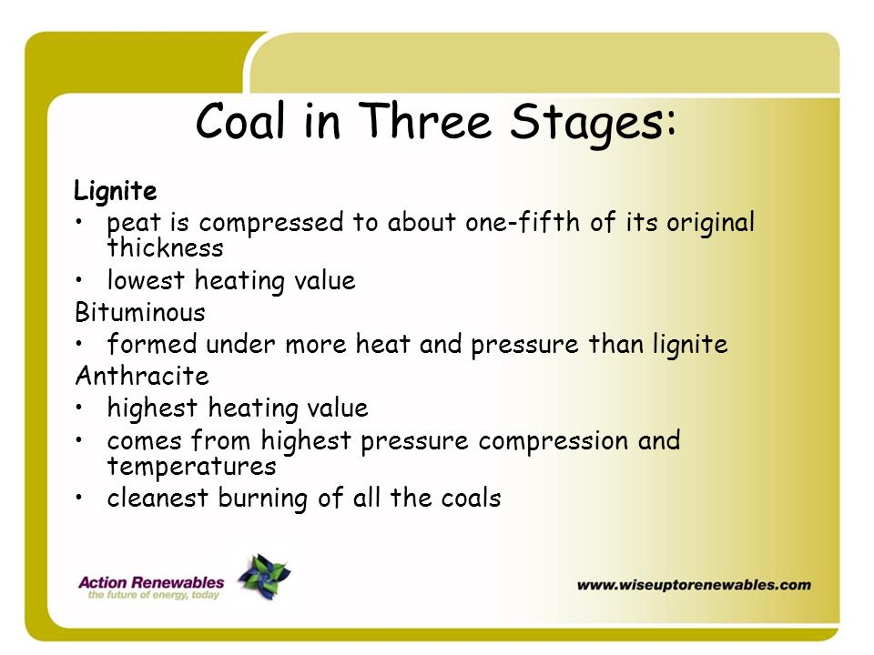 Coal in Three Stages: Lignite