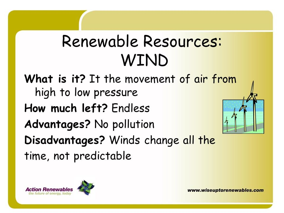 Renewable Resources: WIND