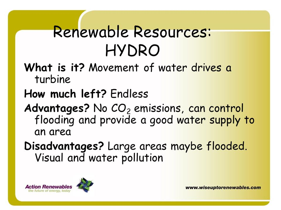 Renewable Resources: HYDRO