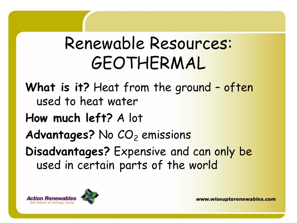 Renewable Resources: GEOTHERMAL