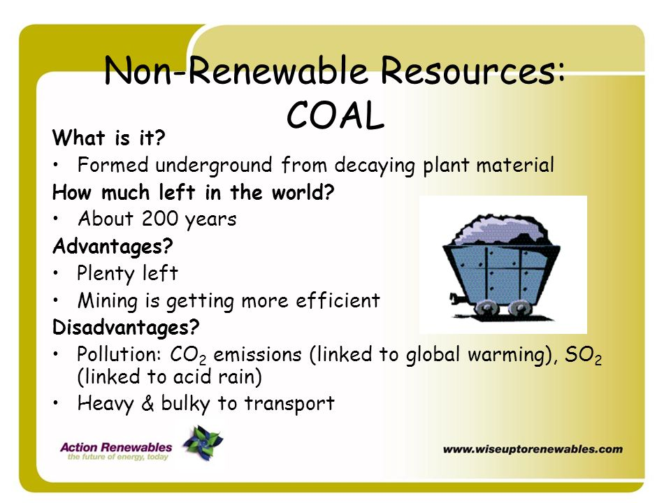 Non-Renewable Resources: COAL