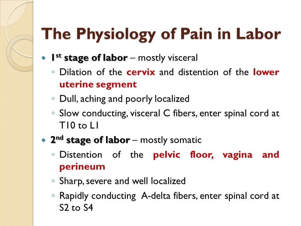 The Physiology of Pain in Labor
