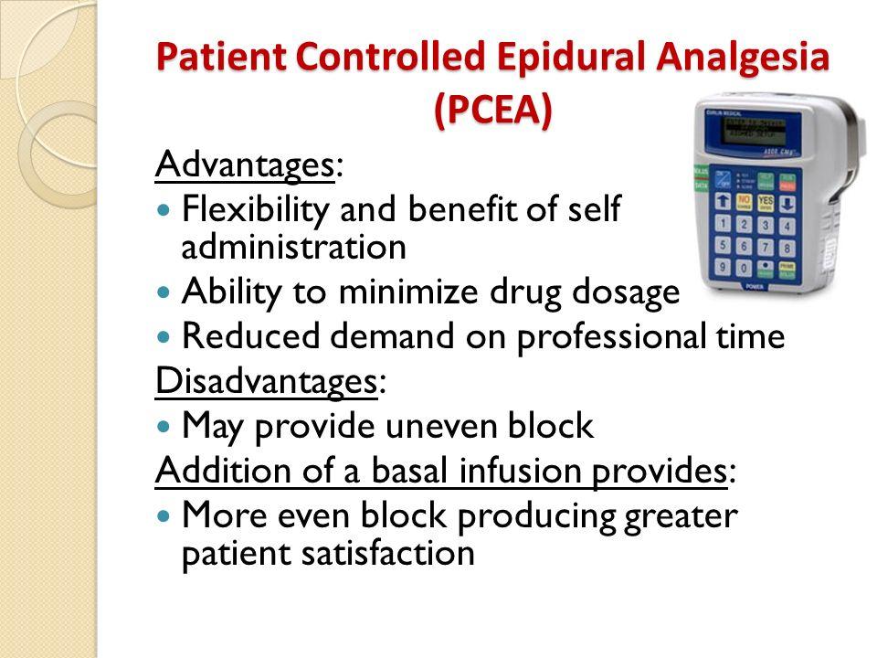 Patient Controlled Epidural Analgesia (PCEA)