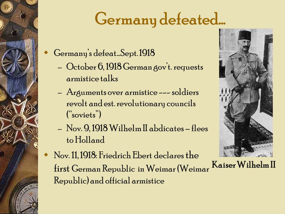 Germany defeated… Germany's defeat…Sept. 1918