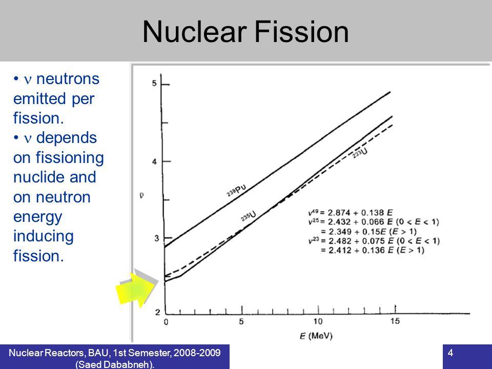 Nuclear Reactors, BAU, 1st Semester, 2008-2009 (Saed Dababneh).