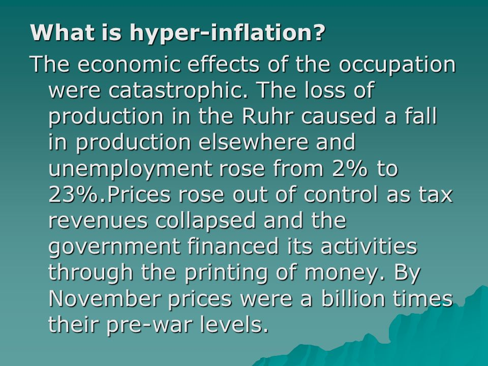 What is hyper-inflation