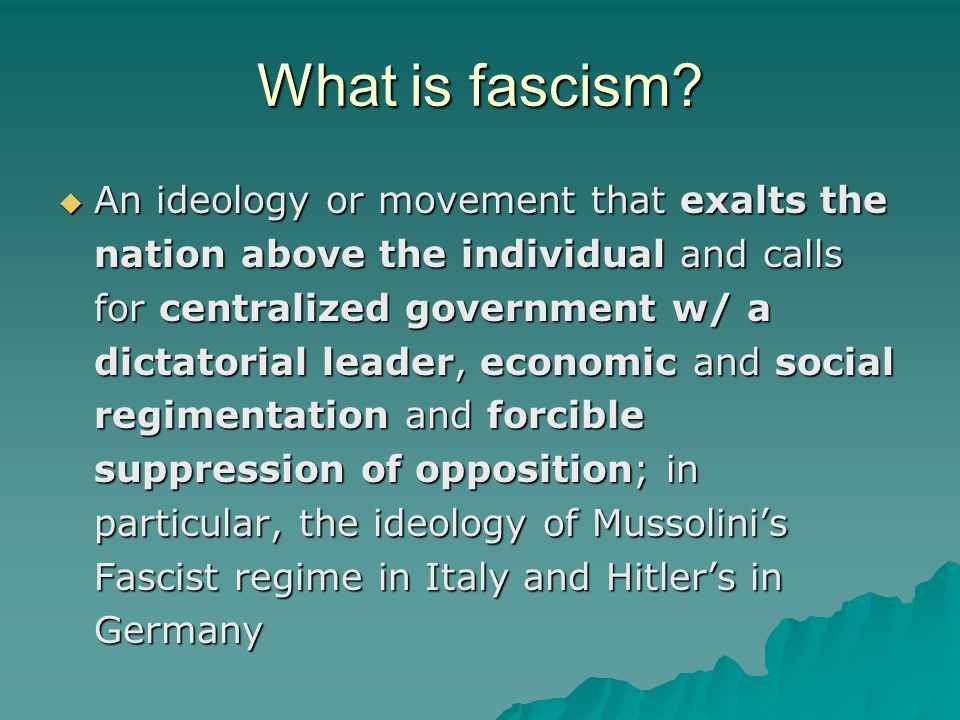 What is fascism