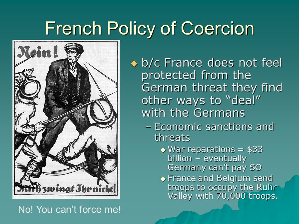 French Policy of Coercion