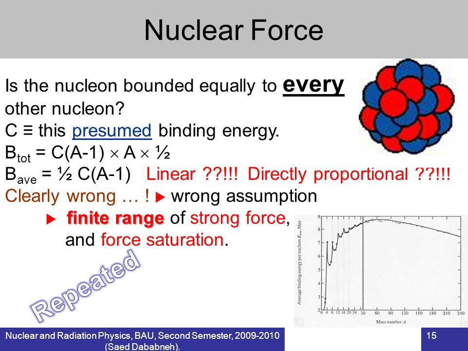Nuclear Force Repeated Is the nucleon bounded equally to every