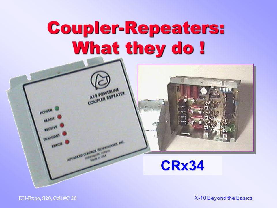 Coupler-Repeaters: What they do !