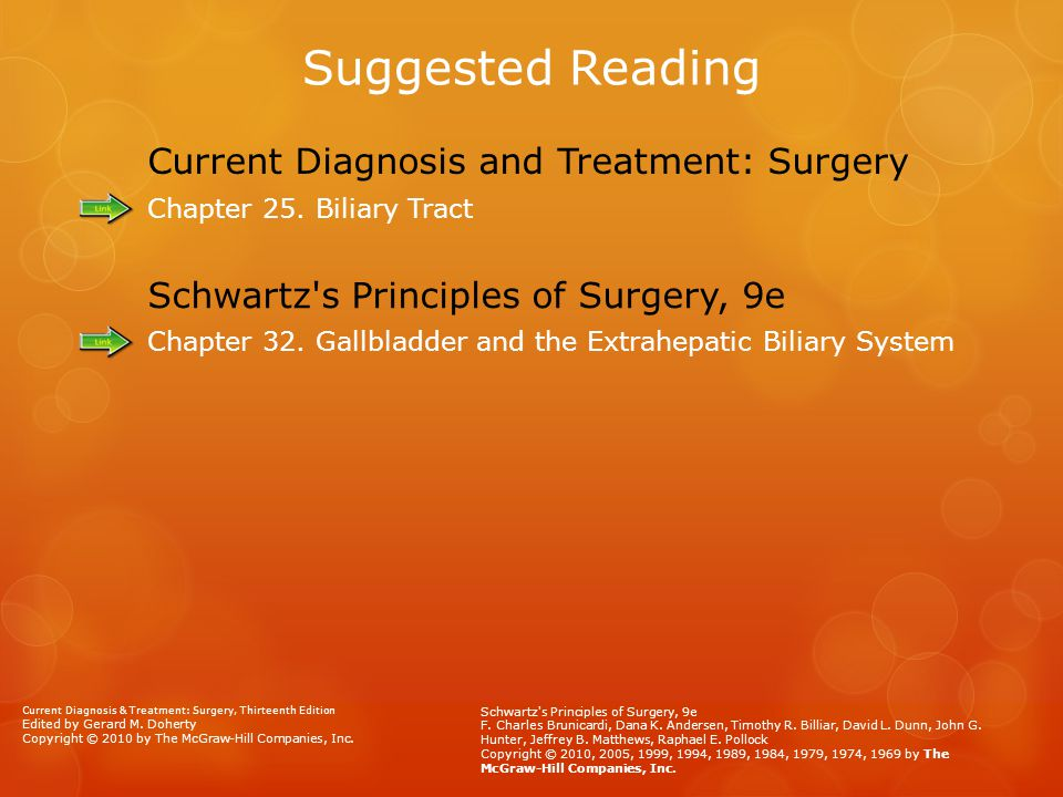 Suggested Reading Current Diagnosis and Treatment: Surgery