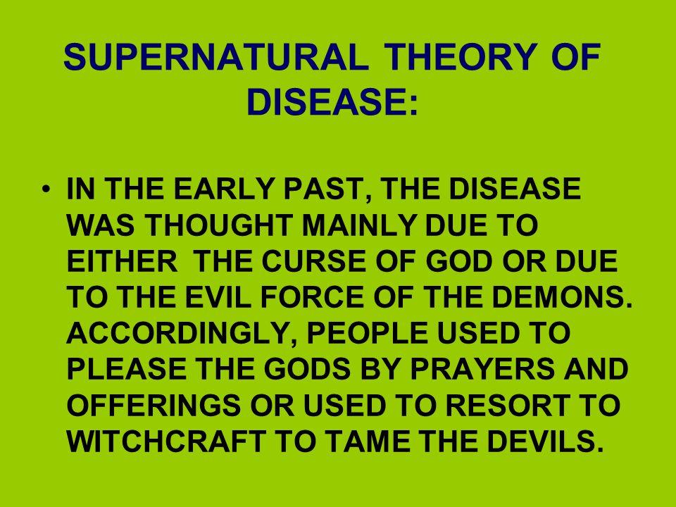 SUPERNATURAL THEORY OF DISEASE: