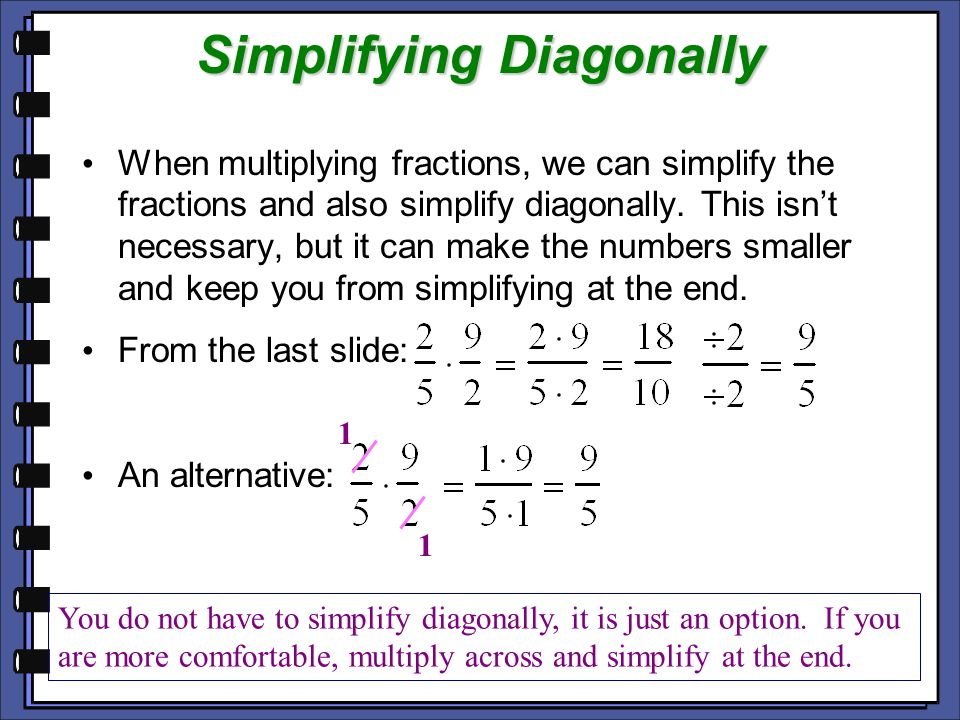 Simplifying Diagonally