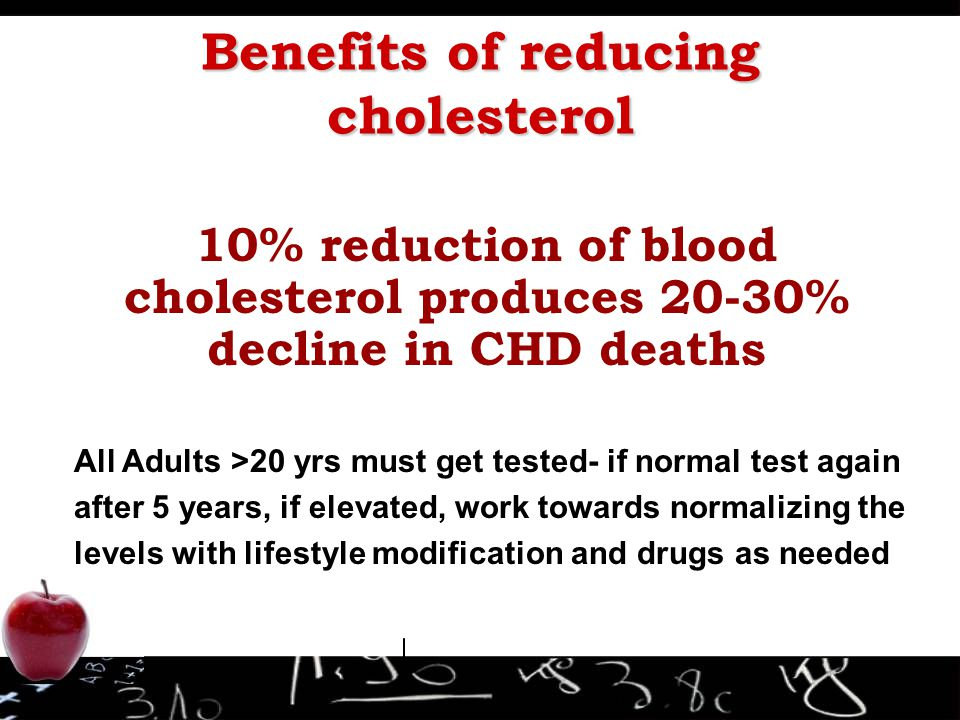 Benefits of reducing cholesterol