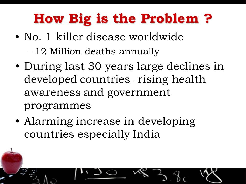 How Big is the Problem No. 1 killer disease worldwide
