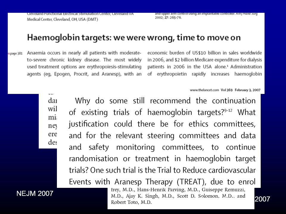 NEJM 2007 Lancet February 2007