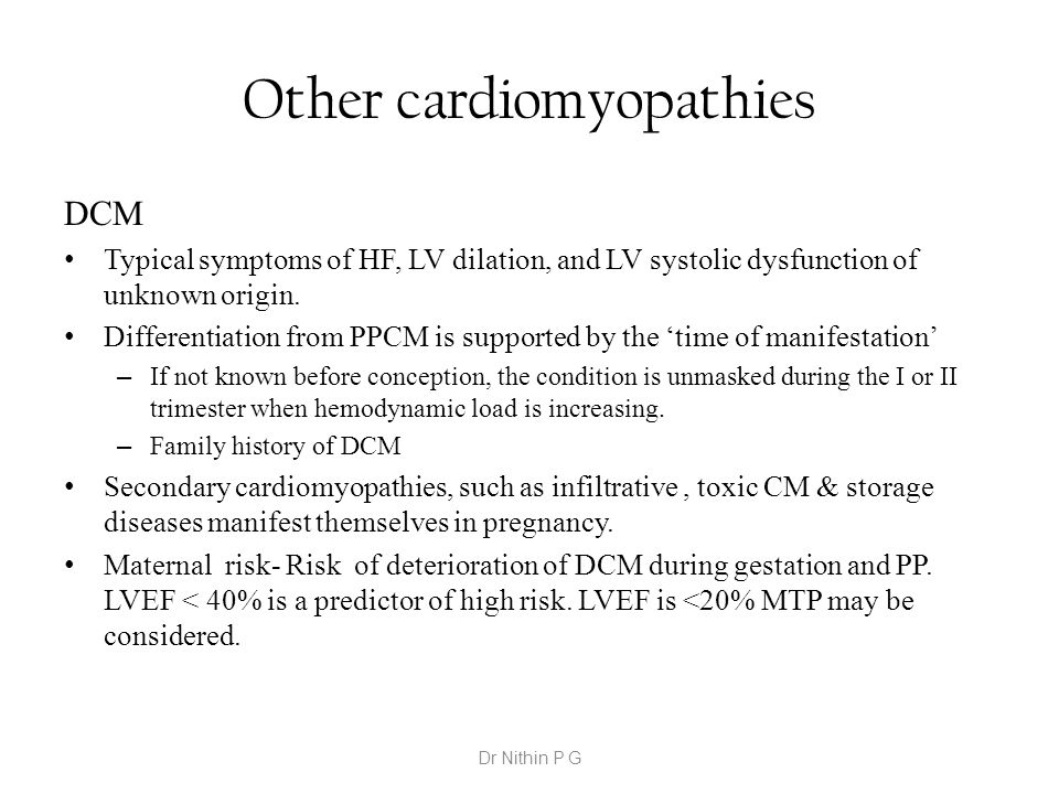 Other cardiomyopathies