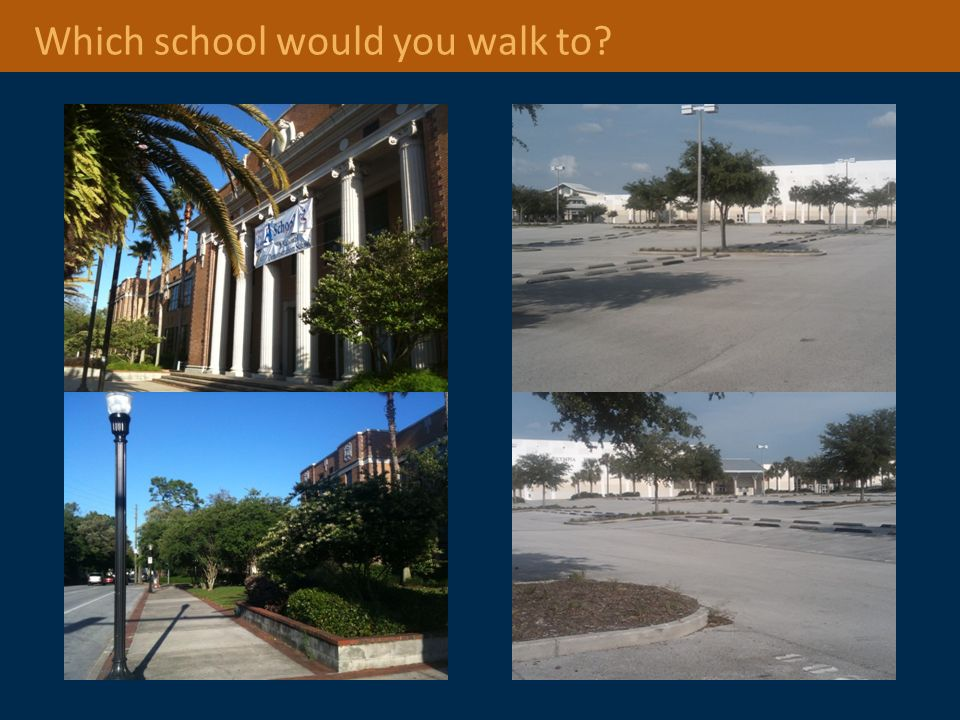 Which school would you walk to